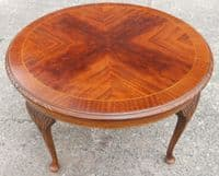 Round Mahogany Queen Anne Style Coffee Table